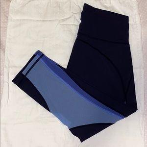 Lululemon Cropped Mesh Color Block Leggings